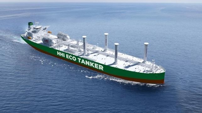 VLCC alimentada con GNL contará con un sistema de recuperación de Velas de Rotor y COVs