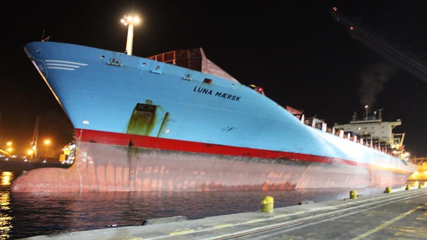 Arriba al puerto Santa Marta el barco de contenedores más grande en su historia