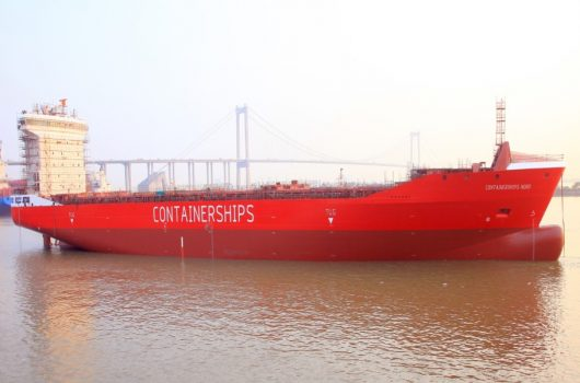 Introducen un segundo buque portacontenedores alimentado con GNL
