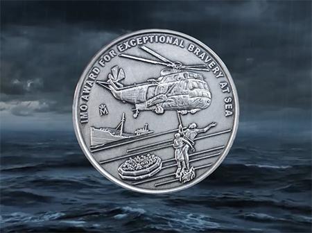 Rescatista estadounidense  reconocido con el premio a la valentía de la OMI