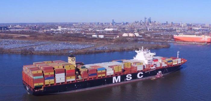MSC ostenta por ahora el buque portacontenedores más grande del mundo.