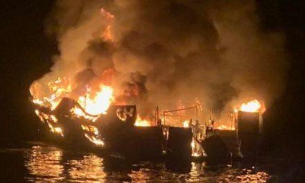 Buzos en busca de desaparecidos tras incendio de bote en el sur de California