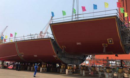 CMHI Lays Keel, corta el primer acero para los barcos de SunStone