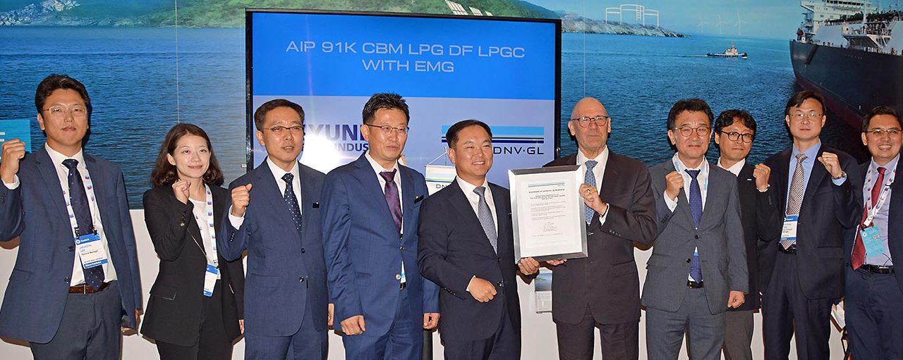 DNV GL concede AIP  a Hyundai Heavy para diseño de buque de transporte de GLP