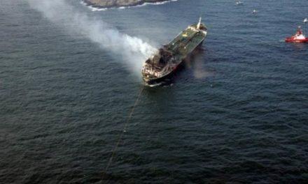 Incendio a bordo de un buque tanque en la terminal Sture de Noruega