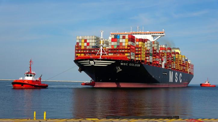 'MSC Gülsün' llega al puerto de Rotterdam