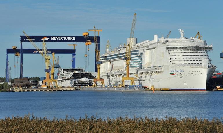 Meyer Turku retrasa la entrega de la Costa Smeralda hasta noviembre
