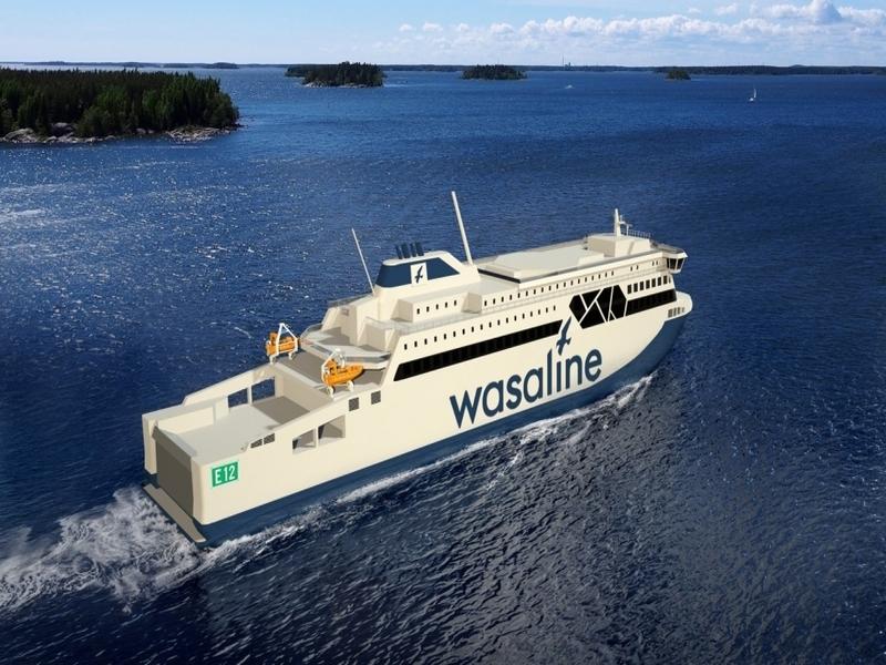 Primer corte de acero para la nueva RoPax sueco-finlandesa