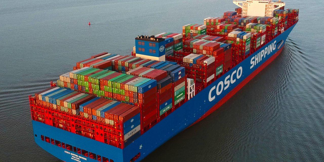 Aumentan los volúmenes de los puertos de embarque de COSCO mientras las ganancias disminuyen