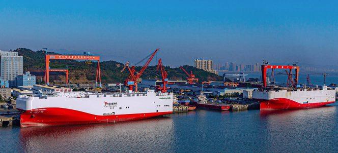 Buques de GNL de Siem Car Carriers se bautizan en China