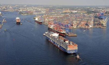 Los volúmenes de contenedores del puerto de Hamburgo subieron 6,9%