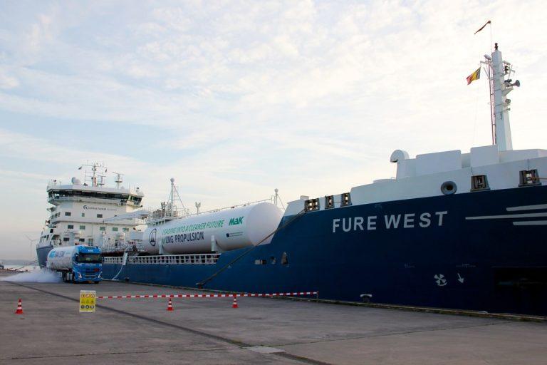 Titan LNG completó el 1er abastecimiento de GNL en el Puerto de Gante