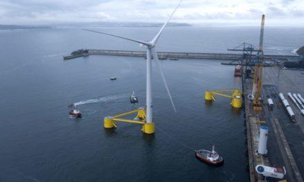 El turbina eólica flotante más grande del mundo de las clasificada por ABS