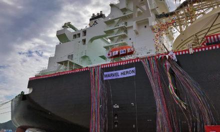 MOL recibe la entrega de un tercer buque de GNL