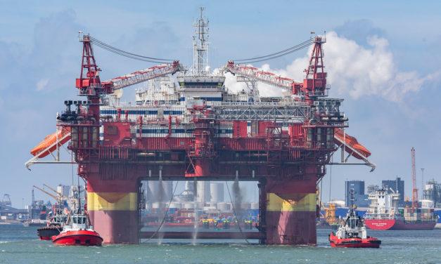 Accidente en el Mar del Norte al desconectarse una plataforma de su acomodación