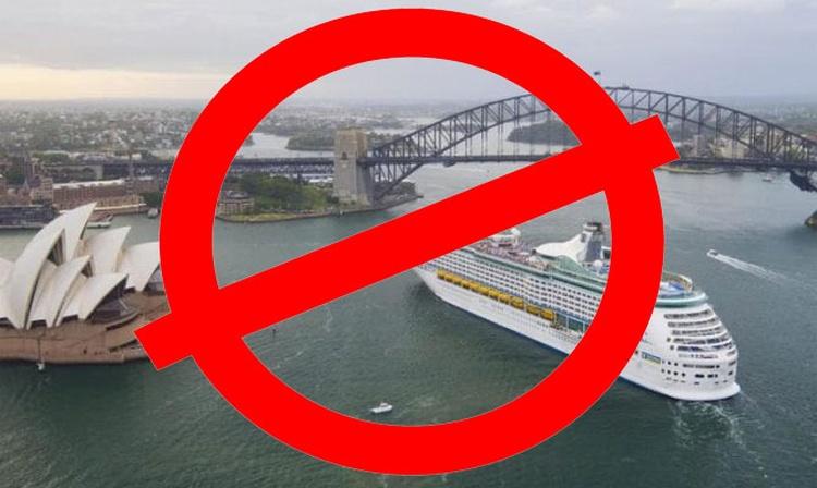 Australia prohíbe la entrada de todos los cruceros