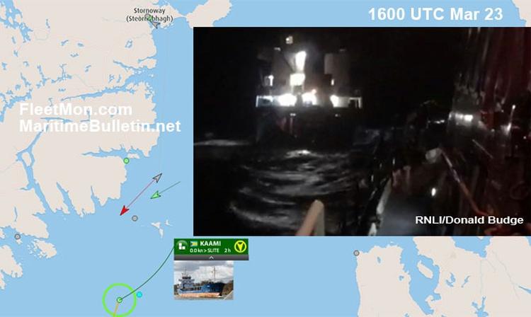 Buque de carga encallo sobre rocas en Escocia y su tripulación rusa fue rescatada