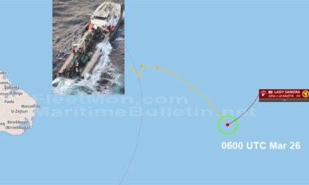 Un buque portacontenedores fue atacado pero logro escapar