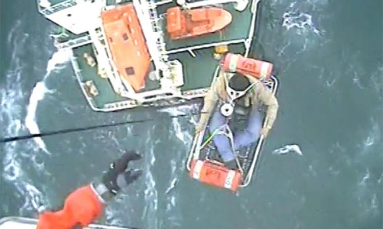 Capitán fue evacuado con un helicóptero del USCG por necesidad de asistencia médica inmediata