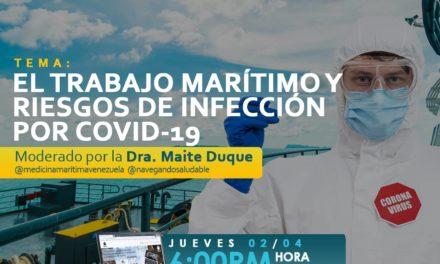 WEBINAR GRATUITO: EL TRABAJO MARÍTIMO Y RIESGOS DE INFECCIÓN POR COVID 19