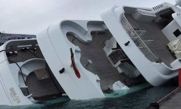 El megayate perteneciente al Príncipe Saudita zozobró en el astillero sin heridos