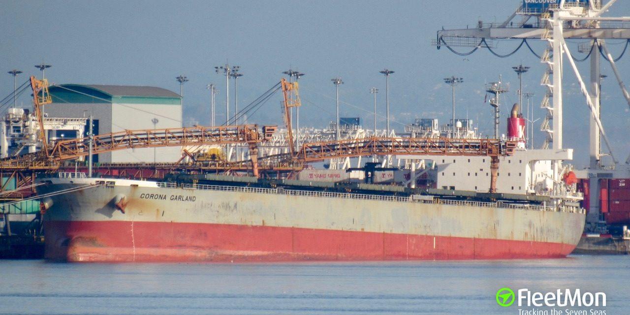 El buque granelero «Corona» informa del primer caso sospechoso de coronavirus en el puerto marítimo de Sudáfrica