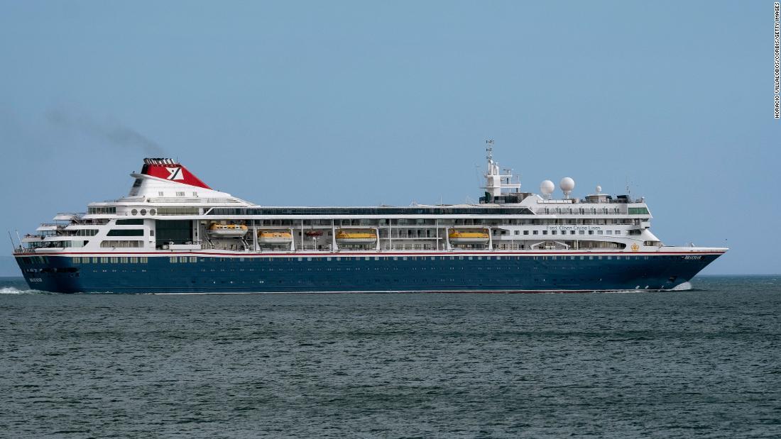 El crucero Braemar anclará para recibir personal y suministros médicos