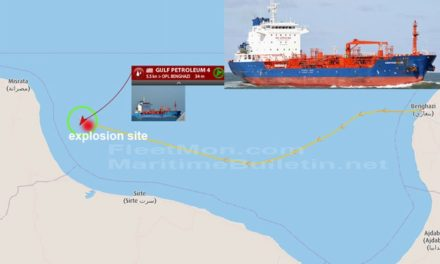 Explosión de un buque tanquero con tripulación herida en Libia