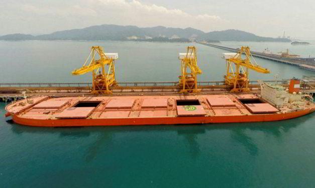 La Empresa brasileña Vale considera el cierre temporal de su terminal de mineral en Malasia