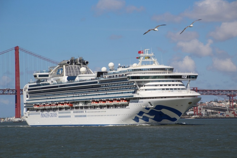 Princess Cruises Line aclara que las pruebas de COVID-19 encontradas en cruceros responden al anterior informe del CDC