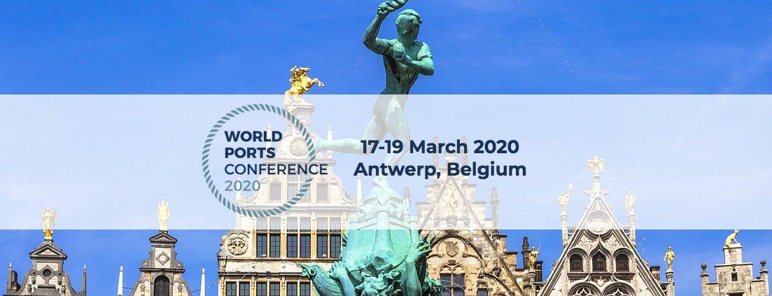 Representantes del sector marítimo se reúnen en Amberes para la Conferencia Mundial de Puertos 2020