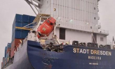Un portacontenedor alemán colisionó con un buque de carga general en Turquía