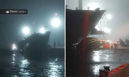 Un buque de carga aplastó un barco pesquero y 6 pescadores están atrapados