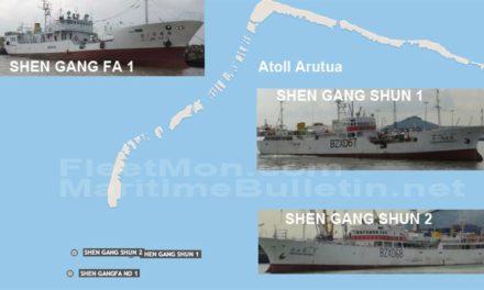 Un buque palangrero encallo y 36 marinos fueron evacuados en Tuamotu