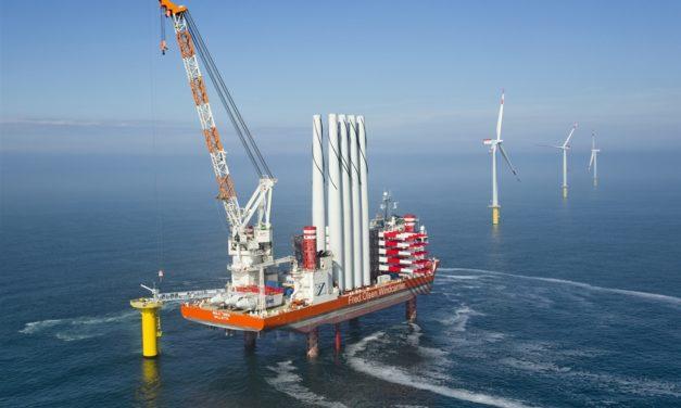 Un nuevo jack-up de gran tamaño impulsará el sector eólico marino de Japón