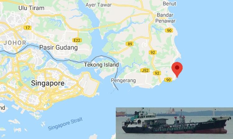 ACTUALIZACIÓN: Pequeño buque tanque se hundió frente a Singapur en aguas de Malasia
