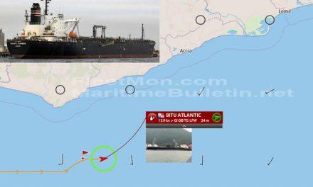 Buque fue perseguido para ser atacado en el Golfo de Guinea