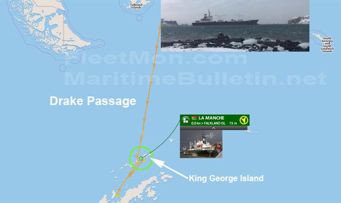 Buque ruso encallo en la Antártida