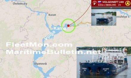 Buque tanque encallado en Rusia ya fue reflotado