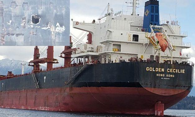 Colisión de buques de carga en  British Columbia, Canada