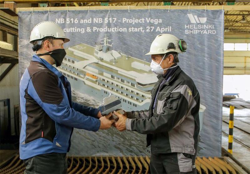 El astillero de Helsinki corta el primer acero para el barco de turismo de Vodohod