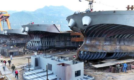 La producción de la construcción naval china cae un 27,3% en el primer trimestre
