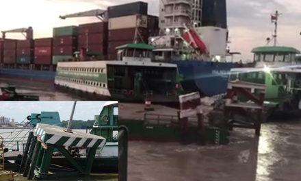 Un buque portacontenedores colisionó levemente con la terminal de transbordadores en Ho Chi Minh
