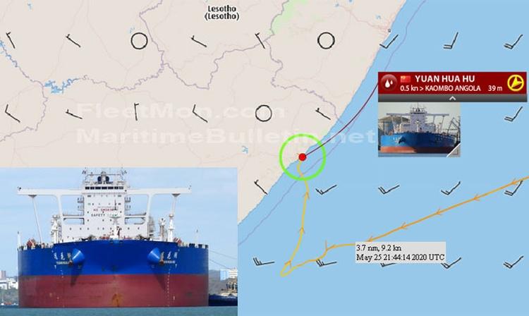 Buque supertanquero de COSCO estuvo en peligro cerca de las costas de Sudáfrica por fallas aun desconocidas