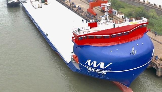 El nuevo buque portaaviones MHI Vestas esta listo para servir