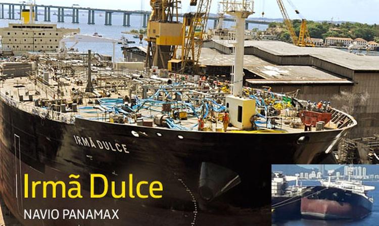 Un buque petrolero se hundió por la popa en Río de Janeiro