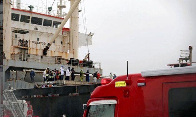 Accidente: Carga cayó en la cubierta de un barco, matando a un estibador e hiriendo gravemente a otro, en Yokohama.