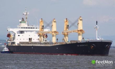 Buque varado debido a tormentas en el Golfo de Bengala se puso a flote