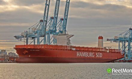 """Cuarentena del buque danés """"Cap San Lorenzo"""" en Algeciras"""