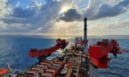 El buque Solitaire de Allseas «esta en marcha» en el proyecto Karish en el Mar Mediterráneo